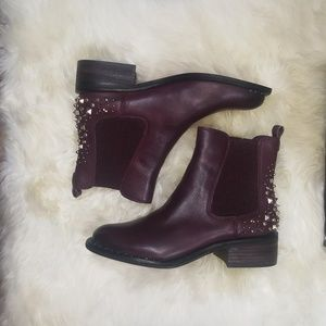 Sam Edelman Burgundy Dover Embellished Boot 8.5